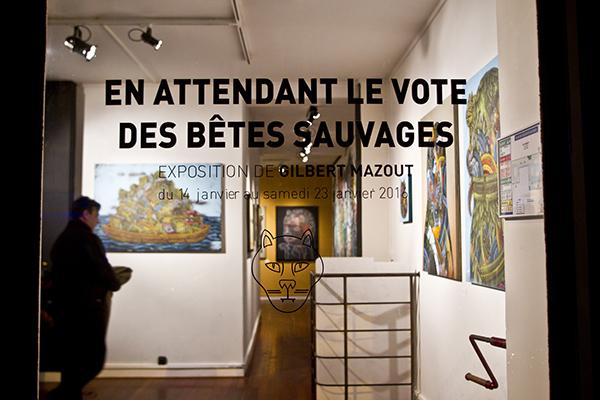 GILBERT MAZOUT EN ATTENDANT LE VOTE DES BETES SAUVAGES ARRIERE BOUTIQUE 9EME CONCEPT 2016