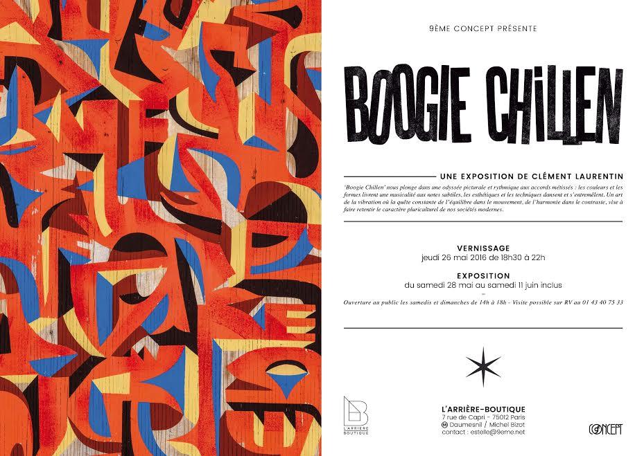 Clément Laurentin exposition Boogie Chillen 9eme Concept